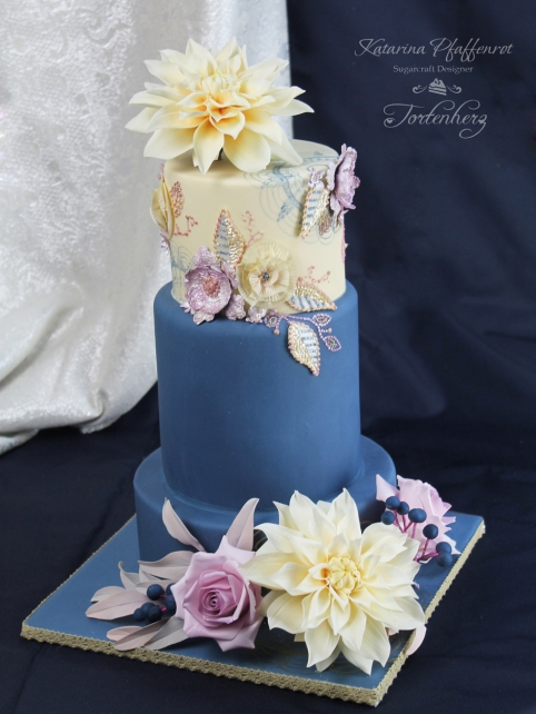 Dahlie Wedding Cake